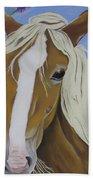 Lavender Horse Beach Towel