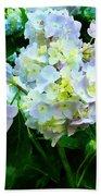 Lavender Hydrangea In Garden Beach Towel