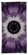 Lavender Iris Beach Towel