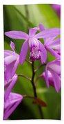 Lavender Orchid Beach Towel