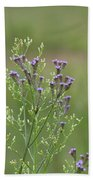 Lavender Purple Verbena Wildflowers  Beach Towel