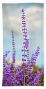Lavender To The Sky Beach Towel