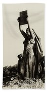Law Prosperity And Power In Black And White Beach Towel