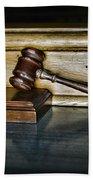 Lawyer - The Judge's Gavel Beach Towel
