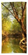 Lazy Afternoon On The Creek 2 Beach Towel