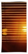 Lazy Summer Afternoon With Sunset View Through The Wooden Window Shades Beach Towel