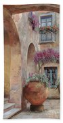 Le Arcate In Cortile Beach Towel by Guido Borelli
