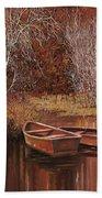Le Barche Sullo Stagno Beach Towel