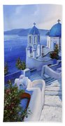 Le Chiese Blu Beach Towel