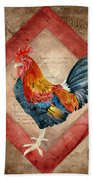 Le Coq - Timeless Rooster  Beach Towel