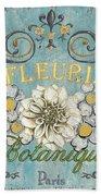 Le Fleuriste De Botanique Beach Towel