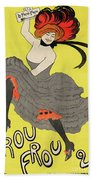 Le Frou Frou Vintage Poster By Leonetto Cappiello, 1899 Beach Towel