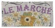 Le Marche Aux Fleurs 1 Beach Towel
