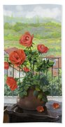 Le Persiane Sulla Valle Beach Towel by Guido Borelli