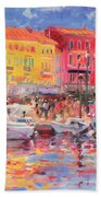 Le Port De St Tropez Beach Towel by Peter Graham
