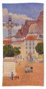 Le Puy The Sunny Plaza 1890 Beach Towel