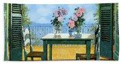 Le Rose E Il Balcone Beach Towel