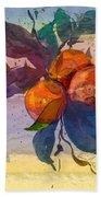 Le Temps Des Oranges Beach Towel