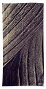 Leaf Abstract  24  Sepia   Beach Towel