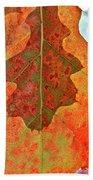 Leaf Behind Beach Towel