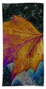 Leaf On Bricks 4 Beach Towel