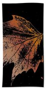 Leaf On Bricks Beach Towel