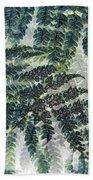 Leaf Patterns Beach Towel