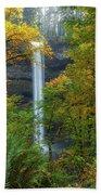 Leaf Peeping And Waterfall Beach Towel