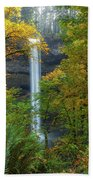 Leaf Peeping And Waterfall Beach Sheet