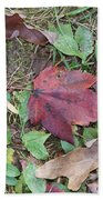 Leaf Standing Out In A Crowd Beach Sheet