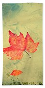 Leaf Upon The Water Beach Towel by Bill Cannon