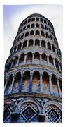 Leaning Tower Of Pisa In Tuscany, Italy Beach Sheet
