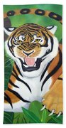 Leaping Tiger Beach Towel