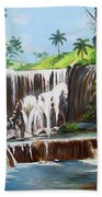 Leaping Waterfall Beach Towel