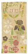 Leaves And Flowers From Nature Beach Towel