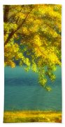 Leaves And Light Beach Towel