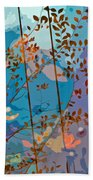 Leaves And Wire Beach Towel