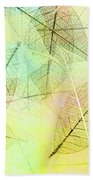 Leaves Background Beach Towel