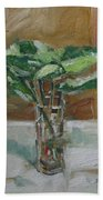 Leaves In A Tall Glass Beach Towel
