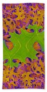Leaves In Fractal 2 Beach Towel