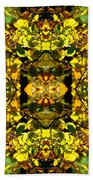 Leaves In The Fall Design Beach Towel
