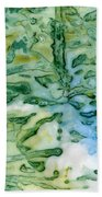 Leaves In Water Beach Towel