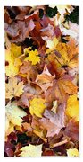 Leaves Of Fall Beach Towel