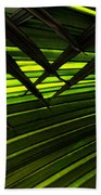 Leaves Of Palm Color Beach Towel