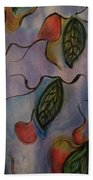 Leaves On Silk Beach Towel