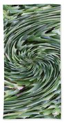 Leaves On Spin Cycle Beach Towel