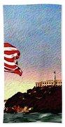 Leaving Alcatraz Beach Towel