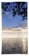 Leaving Port Beach Towel