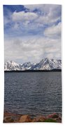 Leaving The Grand Tetons Beach Towel