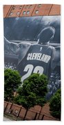 Lebron James Banner Beach Towel